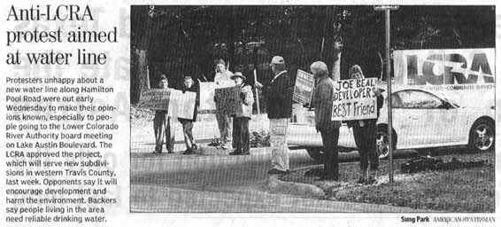 Statesman picture of demonstration