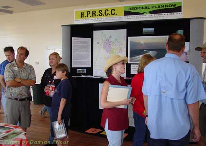Party goers and HPRSCC booth